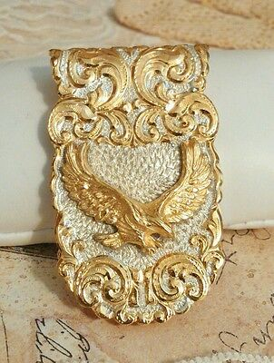 Finely-Chased 1978 Crumrine 22K GOLD & SOLID STERLING Silver Western Belt Buckle