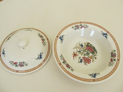 OLD IVORY SYRACUSE CHINA SY423 FLORAL SMALL SERVING DISH WITH LID