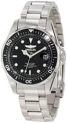 Invicta Men's 'Pro Diver Collection' Stainless Steel Watch, Black Face - Diving