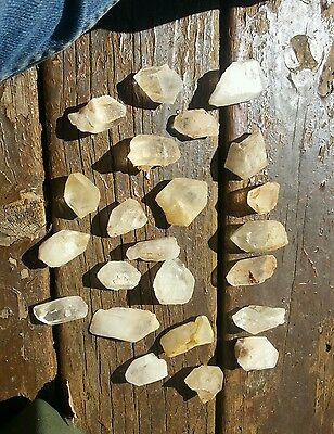 """Lot of large Clear Quartz Crystals Points parts average ~ 3/4"""" wide"""