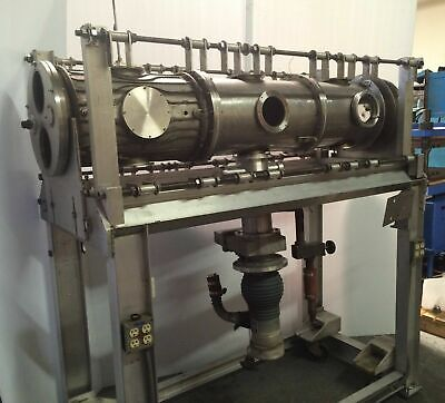 "72"" Multi Ports Stainless Steel Vacuum Cylindrical Chamber NRC Diffusion Pump"