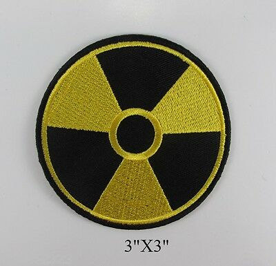 EMBROIDERED SEW IRON ON PATCH RADIOACTIVE POWER ENERGY NUCLEAR T-SHIRT JACKET