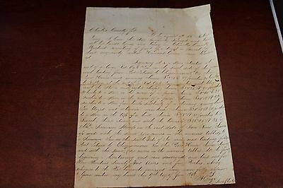 Charles County MARYLAND Land Survey Document 1858 SIGNED Baltimore DC Interest