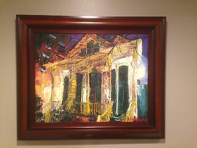 "Michalopoulos  "" Lite Soup"" Original Oil Painting on Canvas Framed & SIGNED"