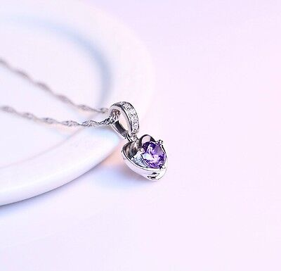 Free Shipping! Womens Silver Plated with AAA CZ Bling Heart Shape Pendant J-E188