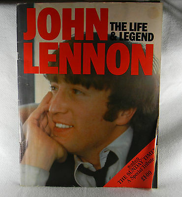 JOHN LENNON THE LIFE AND LEGEND THE SUNDAY TIMES BRITISH EDITION TRIBUTE