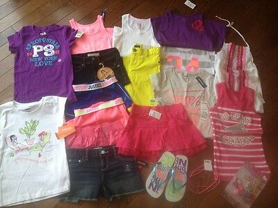 Girls Huge Summer Lot Clothes Outfits NWT Justice P.S. Gymboree TCP 6x/7/8
