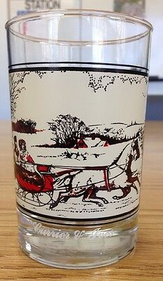 Vintage Currier & Ives Glass - The Road In Winter 1981 Arby's Collector's Series