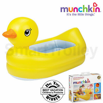 Munchkin Inflatable Portable Travel Baby Bath Tub With Safety Dics& Sound 6-24 M