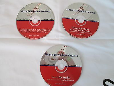 Ron LeGrand Real Estate Investing 3 CD, House Rehab, Work for Equity, Quick Turn