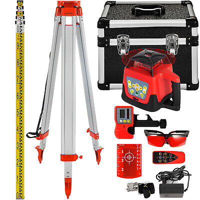 Niveau Laser Rouge Rotatif+Trepied+Regle Measure Kit Alignment Construction