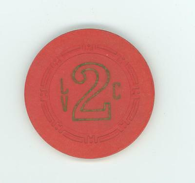 Las Vegas Club roulette chip from the 1950's used but still rare