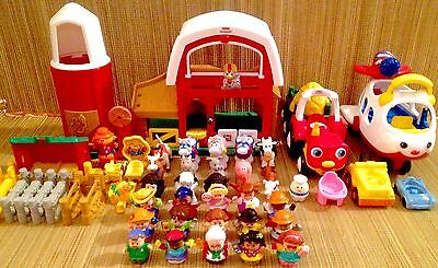 Fisher Price Little People,Animals,Accessories 53 Piece Lot Ages1-4 Boys & Girls