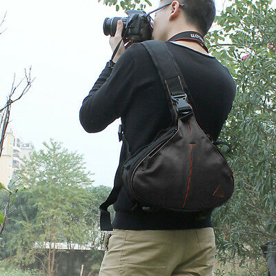 DSLR SLR Sling Camera Shoulder Bag Messenger For Nikon Sony Canon EOS Olympus