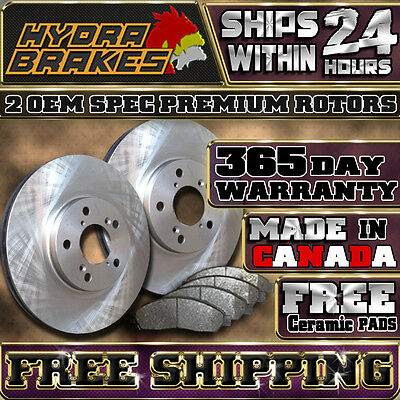 FITS 2009 2010 2011 FORD FUSION OE REPLACEMENT BRAKE ROTORS CERAMIC FRONT