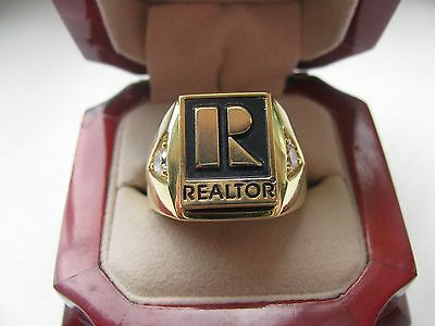 "Superb NEW! Mens Heavy GOLD ""REALTOR"" Crest Ring"