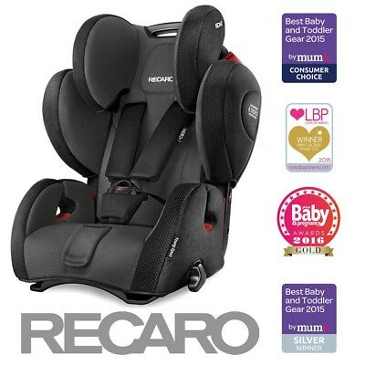 Latest Recaro Young Sport HERO Black Group 1 2 & 3 from 9 Months - 12 Years