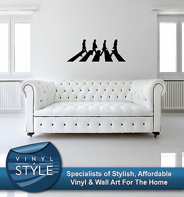 Iconic wall stickers the beatles in liverpool faces vinyl for Beatles abbey road wall mural