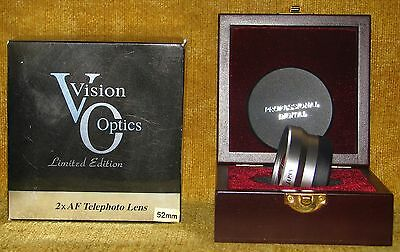 VISION OPTICS LIMITED EDITION 2X AF TELEPHOTO 52MM LENS IN BOX