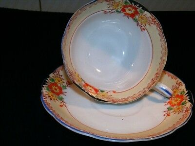 VINTAGE MADE IN JAPAN  FLORAL CUP AND SAUCER SET