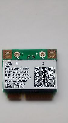 New Intel 5100 WiFi Link 5100AGN PCIE Dual Band Wireless WiFi Card 512AN-HMW