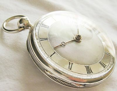 Very nice French Silver Verge Fusee pocket watch with a Silver dial ca1810