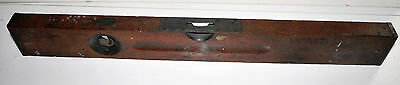 """VINTAGE RARE FACTORY 2nd 26"""" STANLEY NO.3 LEVEL PAT 5-8-06 BRASS ROSEWOOD"""