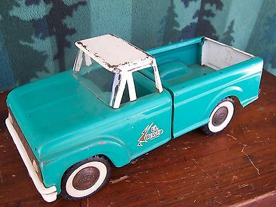 Vintage Buddy L Lil Beaver Aqua/ White Ford Toy Pickup  Truck