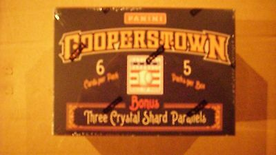 2013 FACTORY SEALED PANINI COOPERSTOWN*Baseball Box*WITH CRYSTAL SHARD PARALLELS