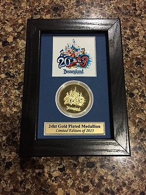 Disneyland 24kt Gold Plated Medallion Limited Edition !! Sold Out Worldwide