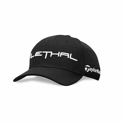 NEW Taylormade PGA Tour Issue Only LETHAL Golf Hat Black RARE OSFA Adjustable