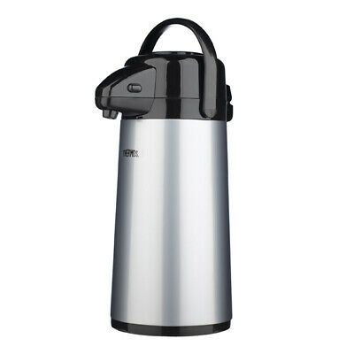 Thermos Push Button Pump Air Pot Glass Liner Drink Coffee Dispenser 1.9L 184637
