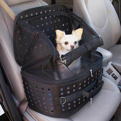 Small Dog Car Seat Carrier - Pet Travel Bag Cage Chihuahua Puppy Contain Safe