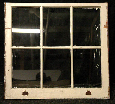 """10 avail Antique 35""""x32"""" Factory French Wooden Sash Windows Window 6 Glass Lites"""