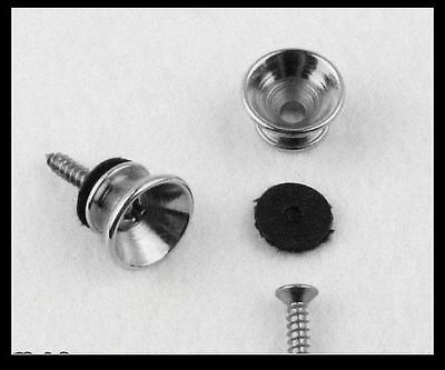4 pcs Chrome Metal Small Strap Buttons Knobs End Pins ,Guitar parts #LLY1252