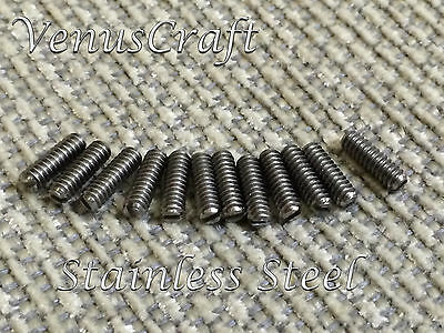 (12) Fender Stainless Saddle Height Slotted Head Screws for Vintage Tele & Bass