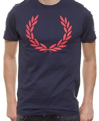 Fred Perry Shirt Men (M3294) Laurel Print Special 100% Authentic Size L New