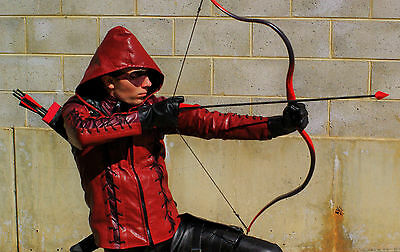 Red Arrow Recurve Bow (Arsenal / Speedy), with Quiver, and 4 Cosplay Arrows
