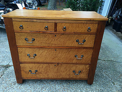 Chest of Drawers Maple Dresser ~ Early 1900s