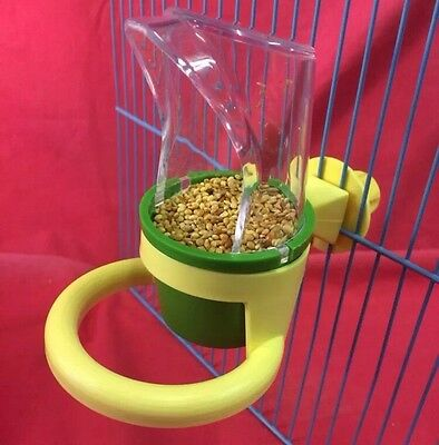 Bird Feeder Food Water Perch Budgie Canary Finch Cockatiel Lovebird Parakeet