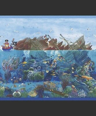Captain Sharky Pirate Extra Large Wallpaper Border for Kids 290004