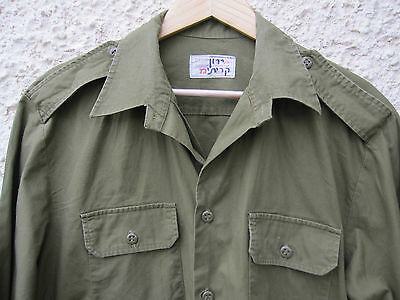 ISRAEL IDF ARMY - GOLANI BRIGADE XL FIELD SHIRT W/ ZAHAL SIGN ! AUTH. UNIQUE.