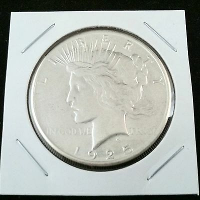 1925 P Peace 90% Silver Dollar .900 Fine Silver & FREE USA Shipping
