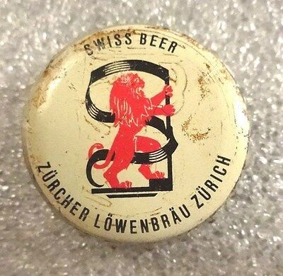Vintage LOWENBRAU Beer Bottle Cap - Cork Lined - Zurich - Used - Free Shipping