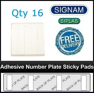 16 Pack of Signam Adhesive Car Number Plate STICKY PADS HEAVY DUTY Free Shipping