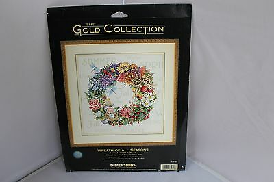 Dimensions Gold Collection Counted Cross Stitch Kit WREATH OF ALL SEASONS NEW