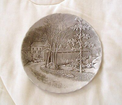 "WENDELL AUGUST FORGE 8"" PLATE/DISH --covered bridge"