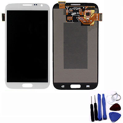 Front Touch Digitizer Screen LCD Assembly for Samsung Galaxy Note II N7100 White