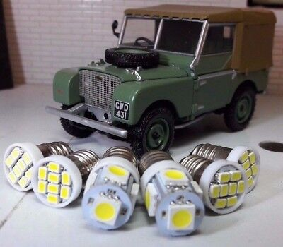 Land Rover Series 1 2 2a Jaeger Smiths Replacement Gauge Warm White LED bulb Kit