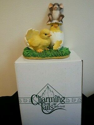 Vtg Charming Tails Whats Hatchin'? Mouse, Chicks Easter MIB Fitz Floyd
